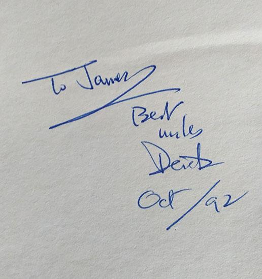My signed copy of Derek Walcott's Omeros